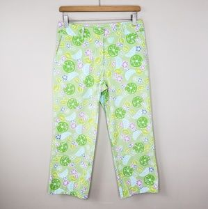 Lilly Pulitzer | Guava Green Twist Capris